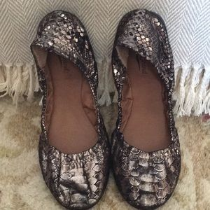 Lucky brand leather snakeskin ballet flats 7
